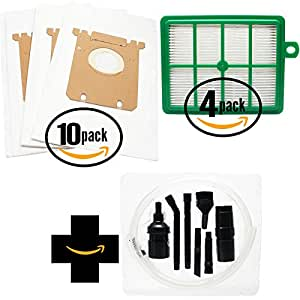 30 Replacement Electrolux Oxygen EL6988D Vacuum Bags & 4 Filter with 7-Piece Micro Vacuum Attachment Kit - Compatible Electrolux S-Bag Vacuum Bag & EL012B Filter