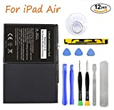 HDCKU New Battery for Apple iPad Air Battery Replacement Kit for iPad 5 Generation A1474, A1475, A1476 with Full Set Installation Tools and Adhesive (365 Days Warranty)