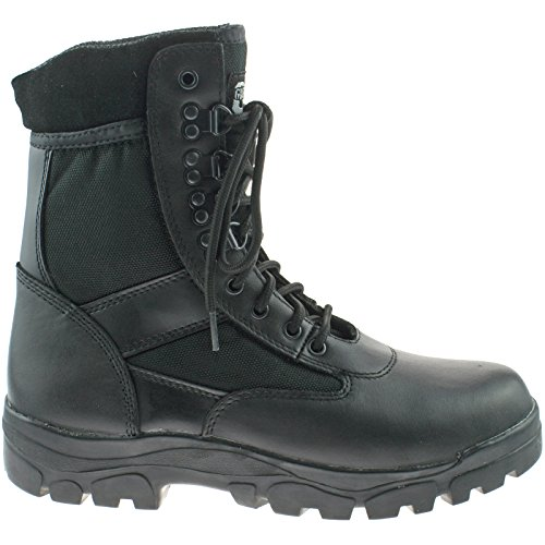 Uk G Grafters 3 Da Combattimento Pelle Nero Stivali Marrone Unisex In force UTzqTF