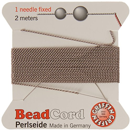 - Griffin Griffin Silk Beading Cord & Needle, Size 4, Silver/Gray