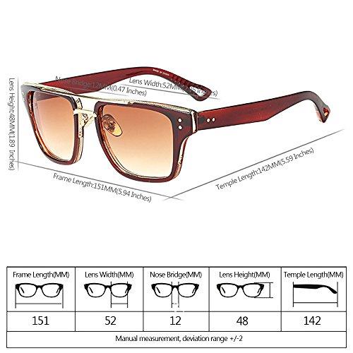 UV400 KINDOYO Estilo Gafas para Mujers de de Extragrandes Último 01 Gafas estilo Unisex Retro sol Hombre y 11RTnX