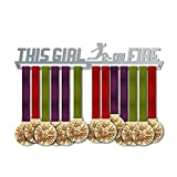This Girl is On Fire Medal Hanger Display   Motivational Medal Hanger   Stainless Steel Medal Display   by VictoryHangers - The Best Gift for Champions !
