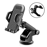 Veroyi Car Phone Mount, 3-in-1 Extendable Dashboard Windshield Car Air Vent Cell Phone Holder, One-Button Release Design, Compatible with 4-6.5' Mobile Phone Devices
