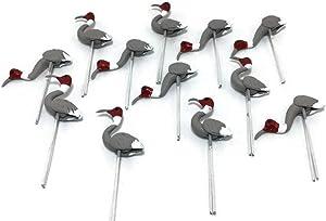 Mr_air_thai_Miniature Lot of 12 Miniature Bittern Bird Fairy Garden Supplies Animal Bird Figurine Furniture Dollhouse GD#023