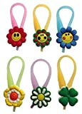 Zipper pulls set. Use on zippers for a fun look, easy zip and unzip. Put them on jackets, backpacks, lunch bags, anything with a zipper. Easy to take on and off. We reserve the right to substitute some of the models. Photo used for general pu...