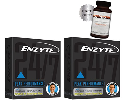 Enzyte Male Enhancement Supplement Pills | Doctor-Formulated with Korean Red Ginseng, Horny Goat Weed, Ginkgo - Erection Quality & Stamina - Plus Free Men's Multivitamin- 2 Pack (80 Capsules) by Enzyte