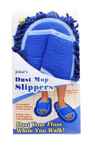 As Seen On TV Deluxe Blue Dust Mop Slippers