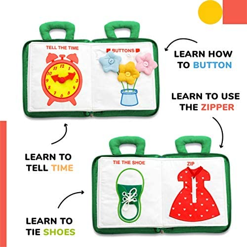 Democa Quiet Book Montessori Toys For Toddlers Travel Toy Educational Toy With Toddler Activities Busy Book For Boys Girls Zipper Bag Green Buy Online At Best Price In