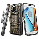 Moto G4 / Moto G4 Plus Case with FREE [Tempered Glass Screen Protector], NageBee [Heavy Duty] [Belt Clip] Holster with [Kickstand] Combo Case For Motorola Moto G 4th Generation / Moto G Plus -Camo