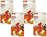 (4 Pack) Nylabone Dura Chew Double Bones, Bacon Flavor – Size Petite/X-Small For Sale