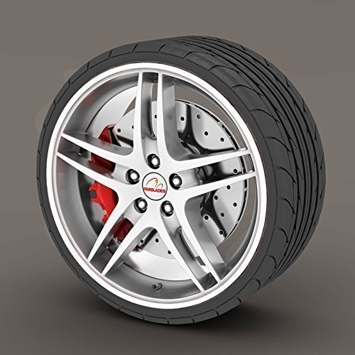 Citroen DS3 White Rimblades Alloy Wheel Edge Ring Rim Protectors Tyres Tire Guard Rubber Moulding