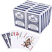 Playing Cards, Poker Size Standard Index, 12 Decks of Cards by LotFancy, for Blackjack, Euchre