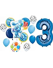 Blue's Clues 3rd Birthday Party Supplies Blue the Dog Balloon Bouquet Decorations