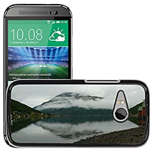 Hot Style Cell Phone PC Hard Case Cover // M00307746 Norway Mountain Clouds // HTC One Mini 2 / M8 MINI / (Not Fits M8)