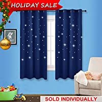 Navy Stars Kids Room Curtain - NICETOWN Space Inspired...