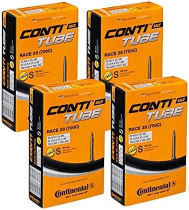 Tubo interno Continental Race 28 700 20 25 de entrenamiento de bicicleta de carretera, válvula Presta 60 mm: Amazon.es: Deportes y aire libre