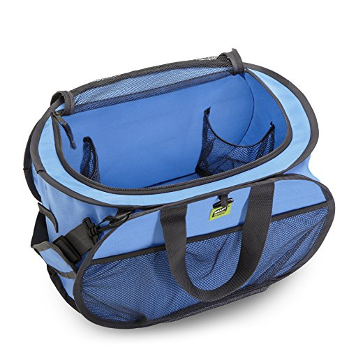 DAZZ PRO-MART Pop Up Compact Tote Organizer with Shoulder Strap, (Pro Tote)