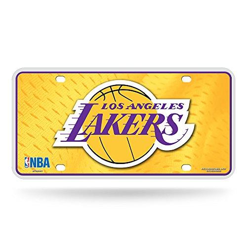 Los Angeles Lakers Metal - Rico NBA Los Angeles Lakers Metal License Plate Tag