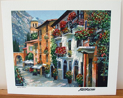 - Howard Behrens Village Hideaway Embellished Giclee on Paper