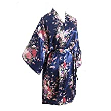 Cherry Blossoms Floral Kimono Robe Silk Nightgown Bridesmaid Robe/ Wedding Robe