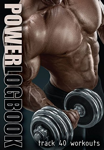 PowerLogbook – A6 pocket men's gym diary, workout powerlifting logbook. Weight training and bodybuilding. GBA Online Ltd. PL-40