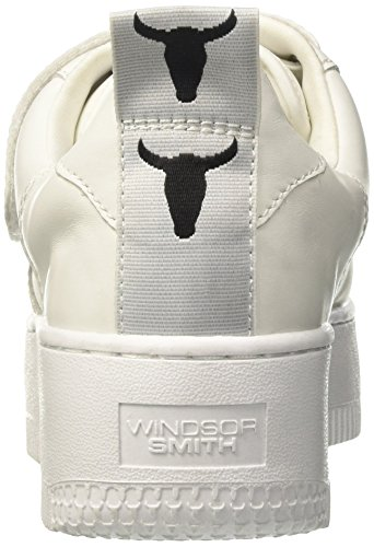 Windsor Smith Dames Sneaker Fastt In Pelle Bianca 37 (eu) -6 (us) Wit