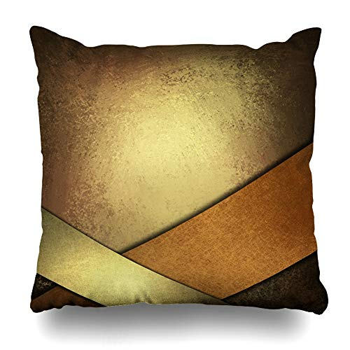 Cover Classic Orange Warm Brown Copper Gold Rich Vintage Earth Tone Color Black Fall Design Paint Home Decor Zippered Pillowcase Square Size 16 x 16 Inches Cushion Case ()