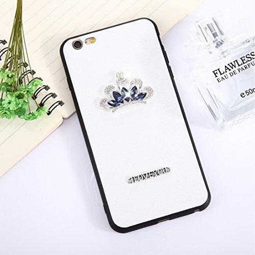 Phone Case & Hülle für iPhone 6 Plus & 6s Plus 3D Krone Muster Diamant TPU Schutzhülle ( Size : Ip6p8546w )