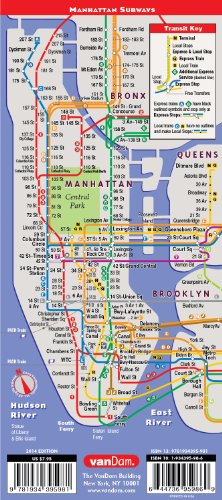 Nyc Subway Map Pda.Streetsmart Nyc Map By Vandam Laminated City Street Map Of Manhattan New York In 9 11 National Freedom Edition Folding Pocket Size City Travel