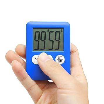 F.RUI Temporizador de Cocina EA69 ABS Digital Cocina Reloj Gran Pantalla LCD Alarma Temporizador de Timbre 5.2 * 0,7 * 6.9 cm: Amazon.es: Hogar