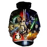Lichee Mens' 3D Star Wars Pullover Film Hoodies
