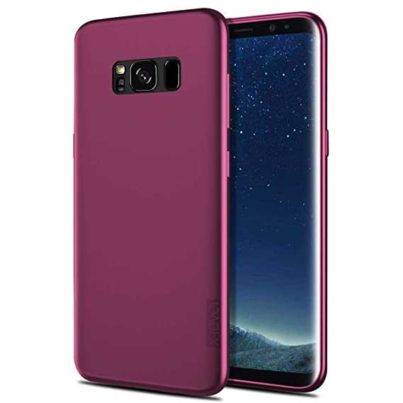 X-Level Slim Fit Samsung Galaxy S8 Case Soft TPU Ultra Thin S8 Mobile Phone Cover Matte Finish Coating Grip Phone Case for Women Compatible Samsung ...