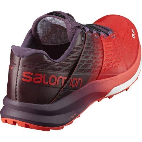 3e977bff6 Salomon Unisex S-Lab Sense Ultra 2 Racing Red Maverick White 12 M