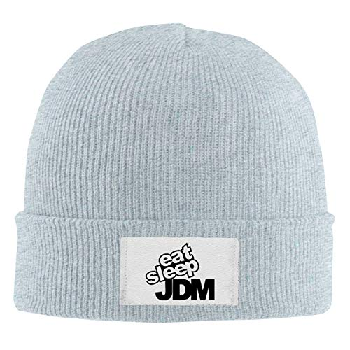- Good Wish Eat Sleep JDM Men's and Women's Noble Knit Hat Gray Super Soft & Warm Velour Lined