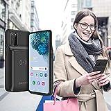 NEWDERY Galaxy S20 Plus Battery Case 10000mAh, Qi