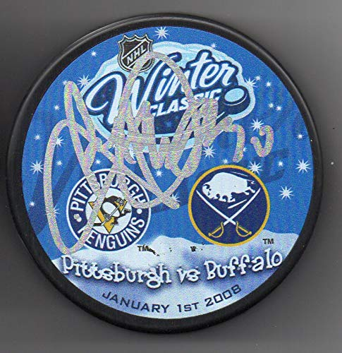 Ryan Miller Autographed Puck Buffalo Sabres 2008 Winter Classic ()