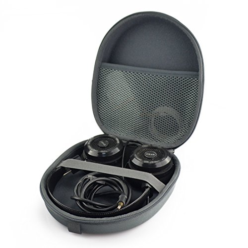 Hard Shell Headphohe Carrying Case for Grado SR60, SR80, SR125, SR225, SR325, RS1, RS2, PS500 and More / Headset Travel Bag with Space for Cable and Accessories