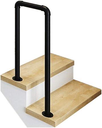 KDJJH Pasamanos Escalera, de Hierro Pasamanos Barandilla en Forma de U Barandas Escalera Pasamanos para Escaleras Corredor para NiñOs Mayores,Black_55cm(1.8ft): Amazon.es: Hogar