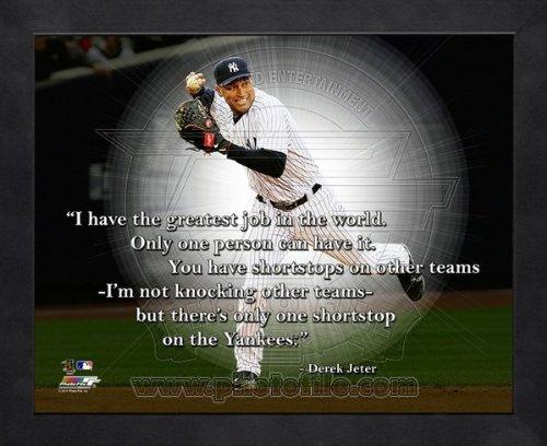 Derek Jeter New York Yankees 'Greatest Job' Pro Quotes Framed 8x10 Photo Photo File aanx215