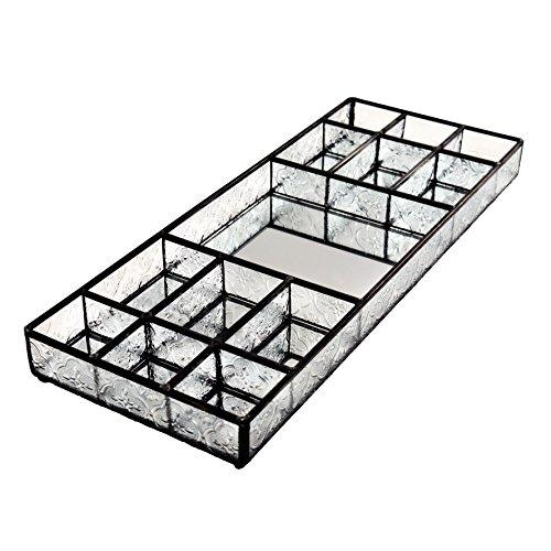 J Devlin TRA 132 Large Glass Tray Jewelry Storage Vanity Organizer Dresser Tray