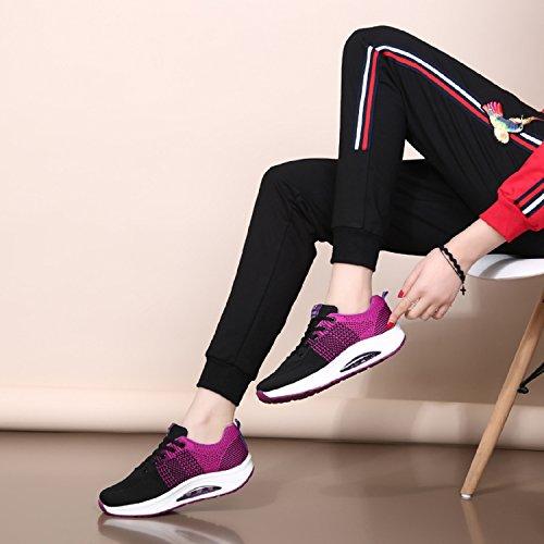 Lily999 Lilla Fitness Joggesko Pustende Plattform Tennis Trenere Wedge Kvinners Sko Komfortabel 4qw64Tr