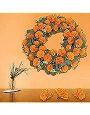 Kunstmatige goudsbloem bloem oranje kleur - 30 stuks zijden doek goudsbloemen decoratie set oranje anjer bloemen decoraties voor feesten, huisdecoratie, foto prop, doe-het-zelf, alleen bloem