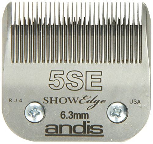 Andis Carbon-Steel ShowEdge Dog Clipper Blade, Size-5SE, 1/4-Inch Cut Length (65595)