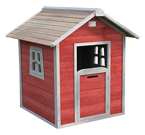 EXIT Beach 100 Spielhaus, aus Zedernholz, rot