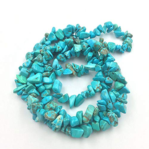 favoramulet Howlite Turquoise Irregular Tumbled Chips Loose Beads Strand for Jewelry Making