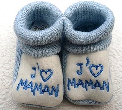 Id/ée cadeau naissanceCrRs-JM chaussettes NISSANOU Paire CHAUSSONS b/éb/é NEUF