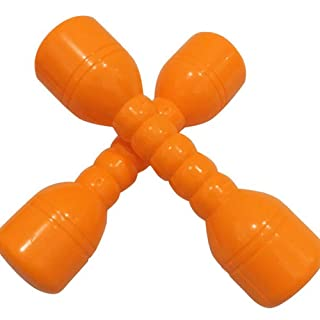 Homiki Sungpunet Giocattolo educativo per i Bambini manubri Giocattolo educativo dei Bambini Arancione 2 PCS