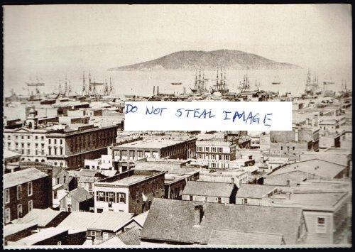 View From Stockton Street Showing Area Between Washington And Sacramento Streets Ca 1855 San Francisco - San Stockton Francisco