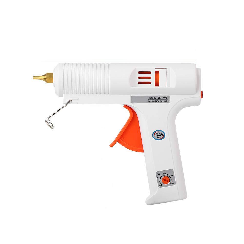 Acquisto FTVOGUE Pistola per Colla Regolabile a Temperatura costante Riscaldatore Pistola Trigger Flessibile Strumento di Riparazione Artigianale per di stampanti Fai-da-Te e Riparazione Rapida 100W(EU Plug) Prezzi offerte