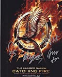 Jena Malone Bruno Gunn and Meta Golding Signed 8x10 Photo w/COA Hunger Games #3